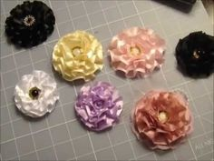 Super Quick and Easy Flower Tutorial!! Less than 5 min. to make! - YouTube
