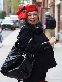 off broadway boutique reruns vintage red felt hats | Off Broadway Boutique