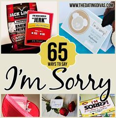 """Saying """"I'm sorry"""" is another way of saying, """"I love you."""" The Dating Divas want to act quickly when it comes to apologizing and have applied their creative minds to come up with a collection of ideas to help you make amends with your hubby. Don't waste a moment of your married life being disconnected from your husband. Apologize today!"""