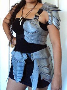 It's A Little Like Magic - predator armor, handmade using mixed media; craft foam, cardboard, gauze, etc...
