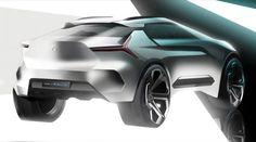 Mitsubishi e Volution Concept Design Sketch Render
