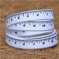 Tape Measure Ribbon - White