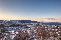 View of Trondheim from Kristiansen Fort