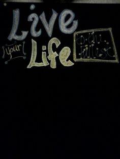 I love chalkboard paint!