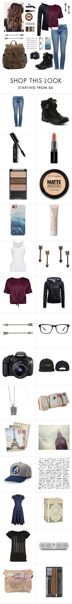 """""""1st place goes to. ."""" by isabel-harsh ❤ liked on Polyvore featuring Current/Elliott, Bobbi Brown Cosmetics, Smashbox, Wet n Wild, Maybelline, Casetify, Laura Mercier, American Vintage, Monki and Boohoo"""