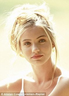 Cameron Diaz as a fresh-faced 17-year-old on modeling shoot from 1989.