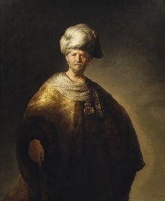 "Man in Oriental Costume (""The Noble Slav""), 1632  Rembrandt (Rembrandt van Rijn) (Dutch, 1606–1669)  Oil on canvas"