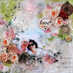 Love Layout using Tea Thyme by Solange Marques for Prima!