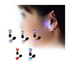 Razzle-Dazzle CZ LED Light-Up Earrings - Assorted Colors at Savings off Retail! Kids Dishes, Jewelry Chest, Jewelry Box, Jewelery, Maker Culture, Geek Gadgets, Glow Party, Sweet 16 Parties, Razzle Dazzle