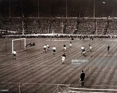 Sport, Football, 1928 FA Cup Final, Wembley, London, England, 21st April 1928, Blackburn Rovers 3 v Huddersfield Town 1, The second goal for Blackburn Rovers shown from the grandstand is scored by Tommy McLean