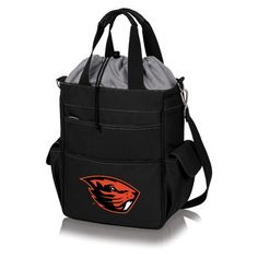 Picnic Time 20 Can NCAA Activo Tote Picnic Cooler NCAA Team: Oregon State University Beavers, Color: Black