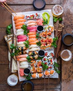 Love the composition of this sushi pic, looks like a very inviting sushi platter well done  @dennistheprescott   Www.makesushi.com for sushi recipes