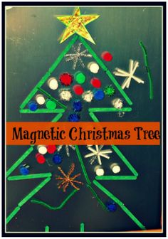 Magnetic Christmas Tree the children can decorate .