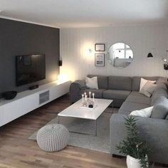 scandinavian living room style - decorations for home living room modern Nordic Inspiration: 7 Incredible Scandinavian Living Room Designs - Interior Remodel Living Room Interior, Home Living Room, Apartment Living, Living Room Designs, Tv Living Rooms, Kitchen Living, Living Toom Ideas, Gray Couch Living Room, Living Room Ideas On A Budget
