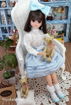 Little Doll, Something Blue, Cute Dolls, Blythe Dolls, Beautiful Dolls, Diorama, Poppies, Nostalgia, Toys