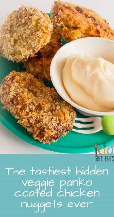 The tastiest hidden veggie panko coated chicken nuggets ever. Try this recipe and seriously hide veggies!