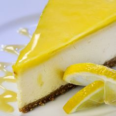 A perfect cheesecake recipe with a tangy lemon glaze.