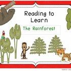 """This booklet includes a nonfiction passage about the Rainforest, common core activities and think marks poster for nonfiction text.  This """"Reading ..."""