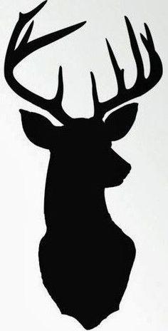 Deer Head Silhouette   Cricut and vinyl   Pinterest   Deer head ...