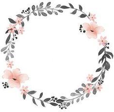 Logo Floral, Flower Background Wallpaper, Flower Backgrounds, Flower Circle, Flower Frame, Wreath Watercolor, Watercolor Flowers, Clipart Photo, Flower Graphic Design