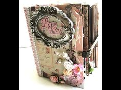 shabby mini album and coordinating projects **LOVE THIS ALBUM...AND I love all the things inside the album, especially all the photo pockets!!!**