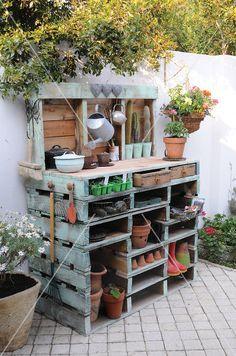 Mueble para jardineria