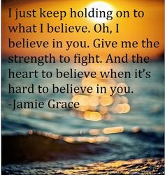 Amen, Amen, Amen!!!! Melia loves thins song too. I love when she sings! holding on ~ Jamie Grace