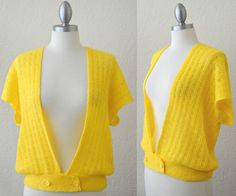 Vintage 70s Crochet Knit Cardigan / Gypsy sweater by RedLightVintageShop