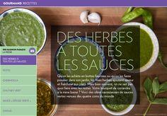 Des herbes à toutes lessauces - La Presse+ Chutney, Pain Garni, Sauce Pesto, Healthy Lifestyle, Bbq, Herbs, Vegan, Cooking, Dinners