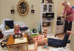 Photos of Barbie doing really bad things.  Funny but SOOO wrong!