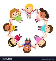 Children holding hands in a circle Royalty Free Vector Image Free Vector Images, Vector Free, Kindergarten Logo, Children Holding Hands, Art Classroom Management, Kids Graphics, Child Day, Happy Kids, Kids Education
