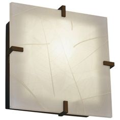 3form Clips 12 Inch Square Ceiling/Wall Light by Justice Design Group