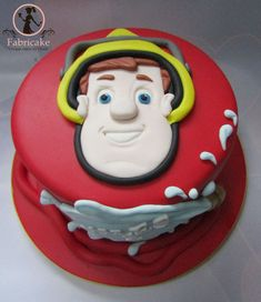 Fireman Sam Birthday Cake, Police Birthday Cakes, Fireman Sam Cake, Frozen Birthday Cake, Fondant Cakes Kids, Chocolate Truffles, Party Cakes, Christening, Cake Decorating