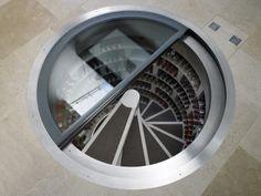 The spiral wine cellar