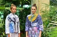 Digital print by Lana Dumitru Sculptural Fashion, Future Fashion, Naive, Vera Bradley Backpack, Digital Prints, Cover Up, Culture, Leggings, Womens Fashion