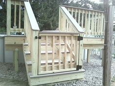 Superb Deck Design Cool Deck Skirting Ideas for Every Home & Yard - Find and save ideas about Deck skirting ideas in this article. Above Ground Pool Decks, In Ground Pools, Porch Gate, Front Porch, Design Cour, Pool Deck Plans, Pool Deck Gate Ideas, Fence Ideas, Backyard Ideas