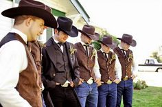 Country Style Weddings Ideas, cause of you're doing cowboy country, rock it.