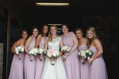 We love the unique mauve color of these bridesmaid dresses - perfect for this rustic chic Kentucky farm wedding! {Jennifer Thornhill Photography}
