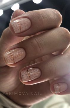 Neutral Nail Designs, Simple Nail Art Designs, Neutral Nails, Easy Nail Art, Nail Designs With Gold, Chic Nails, Stylish Nails, Elegant Nails, Trendy Nails