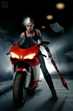 Urban Huntress by ~DSillustration on deviantART
