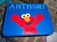 Step Stool Custom Painted for Child or Toddler Personalized Name and Theme. $29.99, via Etsy.