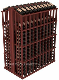 "Wooden 280 Bottle Double Reveal Aisle Wine Cellar Rack Storage Kit in Redwood with Cherry Stain by Wine Racks America®. $736.37. 1 3/8"" Toe Kick Standard: We lift our racks up higher so your bottles are not sitting on the floor. Eco-friendly wood sources in sustainable forests. Some Assembly May Be Required. Choose From either Pine, Redwood, or Mahogany along with optional Industry Leading Quality Eco-Friendly Stains Paired with an Immaculate Satin Finish. Each h..."
