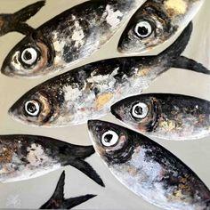 Poissons XXL fond sable Jellyfish Art, Mini Canvas Art, Organic Art, Fish Drawings, Fish Patterns, A Level Art, Fish Print, Fish Design, Beach Art