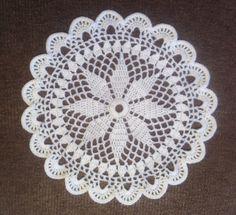 D-354. Doily MANDALA / 32.5 cm / white / Crochet / by onestroke08