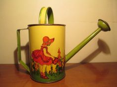 OHIO ART 1920s WATERING / SPRINKLING CAN ~ AMAZING CONDITION! ~ NO RESERVE!!!! ~