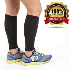 Calf Sleeve (1 pair) - Best True Graduated Compression Leg Sleeves For Running, Basketball - Boost Circulation - Faster Recovery for Runners - Aid Shin Splints & Strains. RELIEVES LEG PAIN AND SHIN SPLINTS: Enjoy pain free runs! Kiss your shin splints good-bye!. LIFETIME GUARANTEE SAVES YOU MONEY AND HASSLE: Our sleeves are backed by a 100% lifetime guarantee. FASTER RECOVERY TIMES: Your body will recover faster, with less leg pain and soreness. PERFECT FOR MULTIPLE SPORTS, EXERCISE...