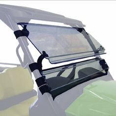 Kolpin 2903 Full-Tilting Windshield  Constructed of ultra-thick, high-quality, scratch-resistant in. MR 10 GE Lexan Polycarbonate. Cut with superior CNC 5-axis router – all edges are supersmooth. Extremely durable – clamps are custom injection molded. All stainless steel, black-coated finish hardware. Easy to install – no drilling required.This item fits the following models: 2012 John Deere Gator XUV 5502012 John Deere Gator XUV 550 S4 Versatile three-position tilt mechanism permits..