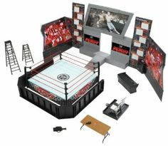 WWE Wrestling RAW Tables, Ladders and Chairs Arena Playset Ring with John Cena and Batista Action Figures John Cena Toys, Wwe Arena, Figuras Wwe, Wwe Toys, Wwe Action Figures, Birthday Bash, Birthday Ideas, Birthday Parties, Wwe Elite