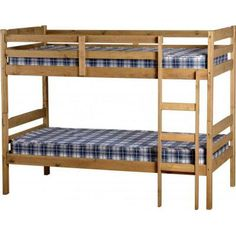Furniture In Fashion Amitola Bunk Bed in Natural Oak Wax Traditional Bunk Beds, Wooden Shelving Units, High Sleeper Bed, Wooden Bunk Beds, Bunk Beds With Storage, Pull Out Bed, Furniture Catalog, Cot Bedding, Grey Oak