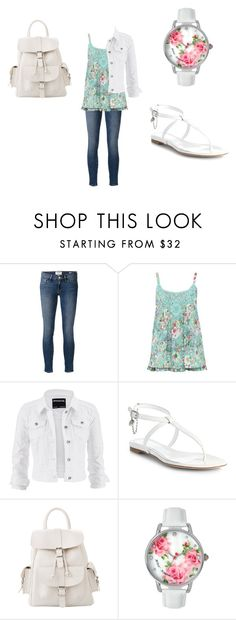 """""""Picnic day"""" by fashion41323 ❤ liked on Polyvore featuring Frame Denim, M&Co, maurices, Alexander McQueen, MANGO and Betsey Johnson"""